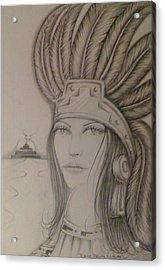 Aztec Princess Acrylic Print by  Rene Nava