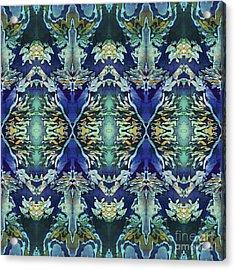 Azuraz Candle Tiled Acrylic Print by Sue Duda