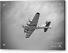 Acrylic Print featuring the photograph B-17 Bomber - Dust And Scratch by Thanh Tran