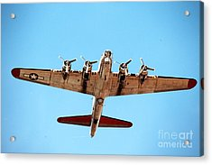 Acrylic Print featuring the photograph B-17 Bomber - Technicolor by Thanh Tran
