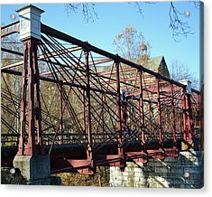 Acrylic Print featuring the photograph B And O Bridge by Mary Zeman