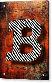 B Acrylic Print