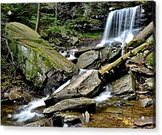 B Reynolds Falls Acrylic Print by Frozen in Time Fine Art Photography