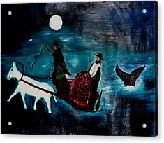 Baal Shem Tov In His Carriage Acrylic Print by Eliezer Sobel