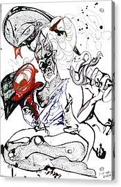 Baba Acrylic Print by Die Go Learn