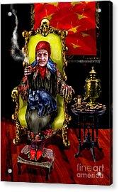 Acrylic Print featuring the painting Baba Yaga by Elinor Mavor