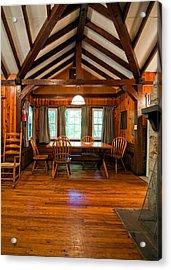 Babcock Cabin Interior 2 Acrylic Print by Steve Harrington