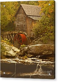 Babcock Glade Creek Grist Mill Autumn  Acrylic Print