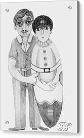 Babushka Acrylic Print by Rachel Hershkovitz