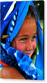 Baby Blue Eyes Acrylic Print by Carrie OBrien Sibley