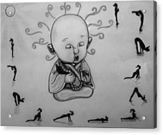 Baby Buddha Acrylic Print by Shashi Kumar