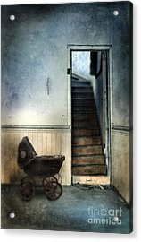 Baby Buggy In Abandoned House Acrylic Print by Jill Battaglia