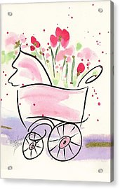 Baby Buggy Note Card Acrylic Print
