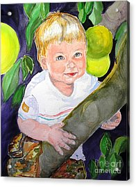 Baby In The Tree Acrylic Print by Susan  Clark