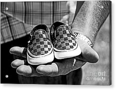 Baby Shoes Acrylic Print by Baywest Imaging