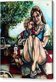 Baby's First Picnic Acrylic Print by Shana Rowe Jackson