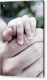 Baby's Hand Acrylic Print by Cristina Pedrazzini