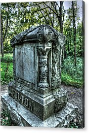 Bachelors Grove Fulton Tomb Acrylic Print by Jackie Novak