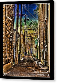 Back Alley Acrylic Print by Linda Constant