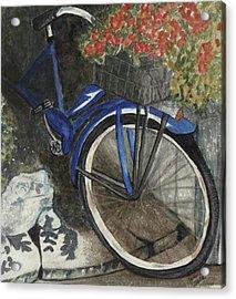 Back Door At Brick Street Cafe Acrylic Print by Joan Zepf