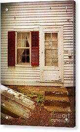 Back Door Of Old Farmhouse Acrylic Print by Jill Battaglia