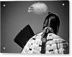 Back Feather Acrylic Print by Diego Re