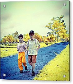 Back From School Acrylic Print