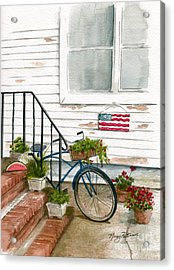 Acrylic Print featuring the painting Back Step by Nancy Patterson