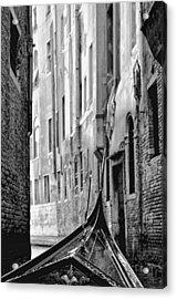 Acrylic Print featuring the photograph Back Street Gondola by Graham Hawcroft pixsellpix