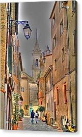 Back Streets Of Sanary Acrylic Print by Rod Jones