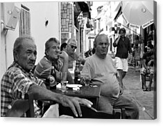 Acrylic Print featuring the photograph Back Streets Of Skiathos by Graham Hawcroft pixsellpix