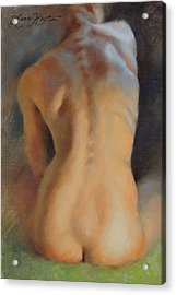 Back Study In Warm And Cool Acrylic Print