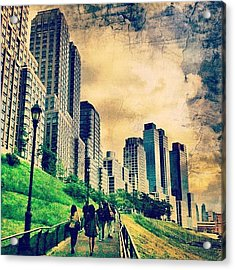 Back To The City.  Acrylic Print