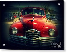 Back To The Future Packard Acrylic Print by Susanne Van Hulst