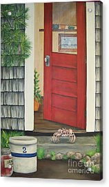 Backdoor Visitors Three  Acrylic Print by Lin Ruch