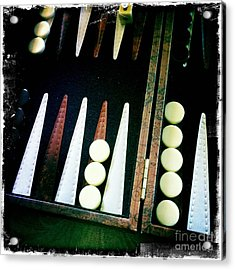 Acrylic Print featuring the photograph Backgammon Anyone by Nina Prommer