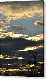 Backlit Clouds Acrylic Print