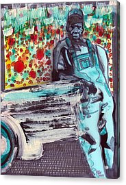 Backroads And Wildflowers Acrylic Print