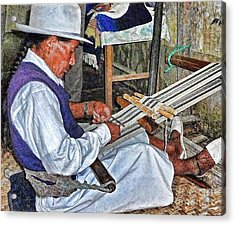 Backstrap Loom - Ecuador Acrylic Print by Julia Springer