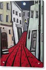 Acrylic Print featuring the painting Backstreets by Cheryl Pettigrew