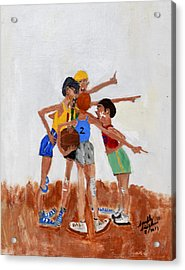 Backyard Basketball Acrylic Print by Swabby Soileau