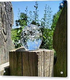 Backyard Magic #crystalball #magic Acrylic Print