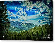 Bad Mountain Acrylic Print by Rick Bragan