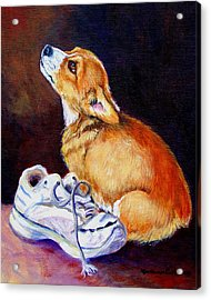 Bad Puppy Pembroke Welsh Corgi Acrylic Print
