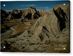 Badlands By Moonlight Acrylic Print by Chris Brewington Photography LLC