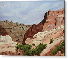 Badlands I Acrylic Print by Alan Mager