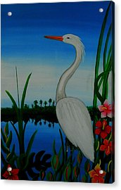 Badswan Bird Type Thing  Acrylic Print