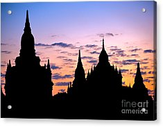 Acrylic Print featuring the photograph Bagan by Luciano Mortula