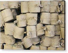 Bags Of Flax Acrylic Print by Magomed Magomedagaev
