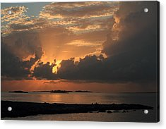 Acrylic Print featuring the photograph Bahamas Sunset by Coby Cooper